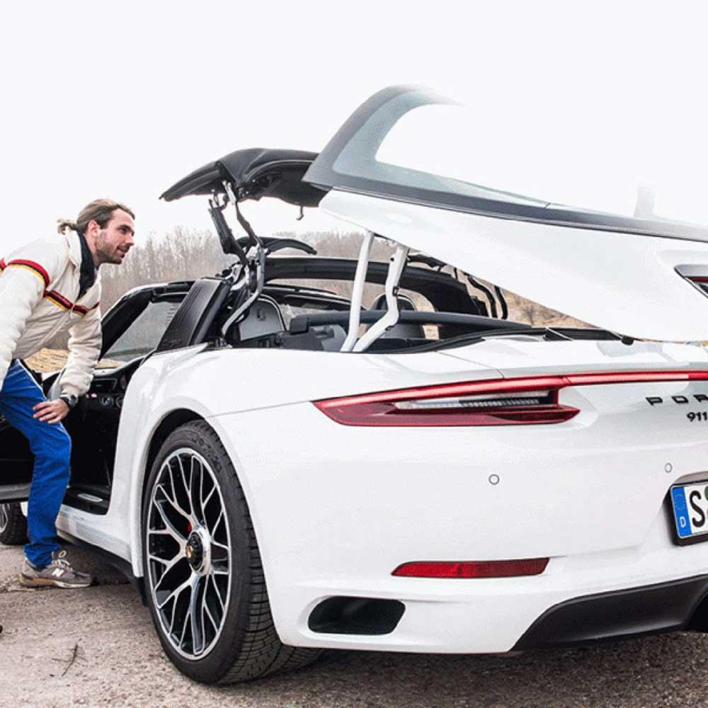 پورشه 911 Targa 4/4S مدل 2021 در حال تست